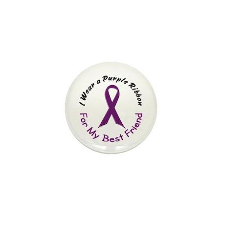 Purple Ribbon For My Best Friend 4 Mini Button