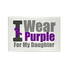 I Wear Purple (Daughter) Rectangle Magnet