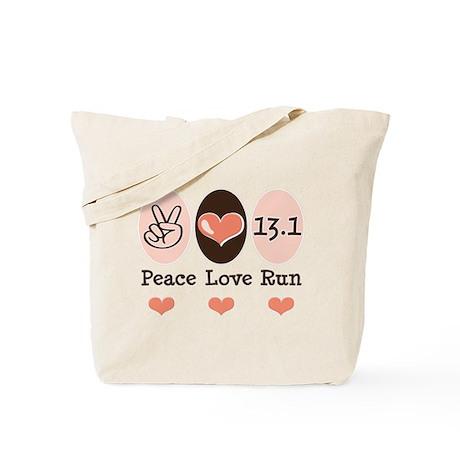 Peace Love Run 13.1 Tote Bag