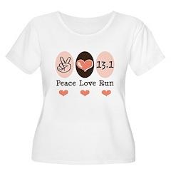 Peace Love Run 13.1 T-Shirt