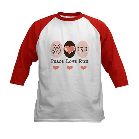 Peace Love Run 13.1 Kids Baseball Jersey