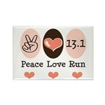Peace Love Run 13.1 Rectangle Magnet (100 pack)