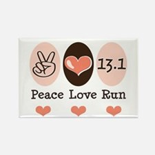 Peace Love Run 13.1 Rectangle Magnet