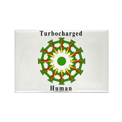 Turbocharged Human Rectangle Magnet