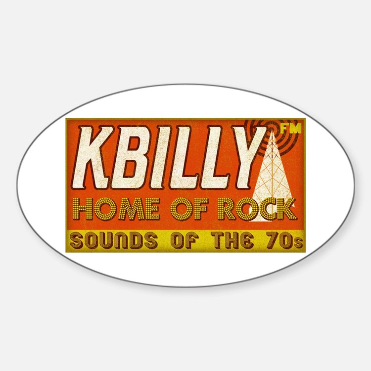 KBILLY Rock Oval Decal
