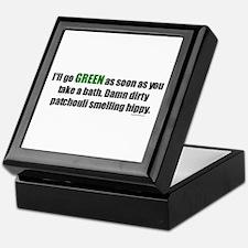 I'll Go GREEN Keepsake Box