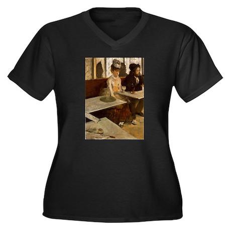 Edgar Degas -L'Absinthe Women's Plus Size V-Neck D