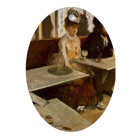 Edgar Degas -LAbsinthe Oval Ornament