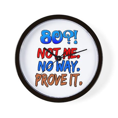 80?! Not Me Wall Clock