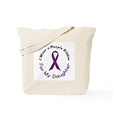 Purple Ribbon For My Daughter 4 Tote Bag