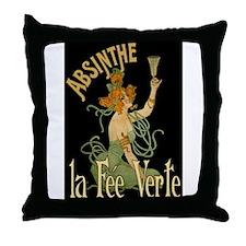 La Fee Verte Throw Pillow
