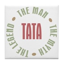 Tata Czech Dad Man Myth Legend Tile Coaster