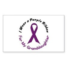 Purple Ribbon For My Granddaughter 4 Decal