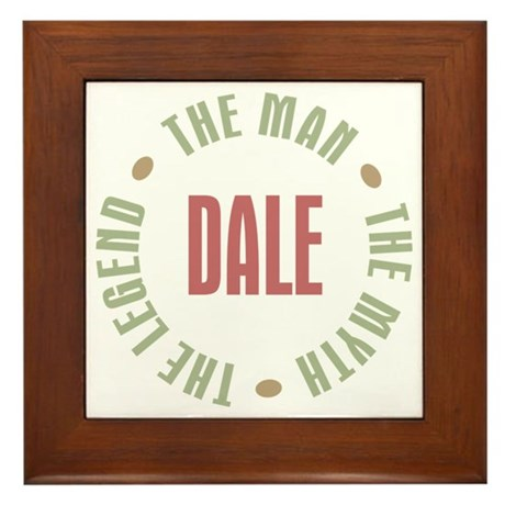 Dale Man Myth Legend Framed Tile