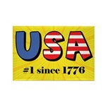 USA No. 1 Rectangle Magnet