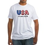 USA No. 1 Fitted T-Shirt