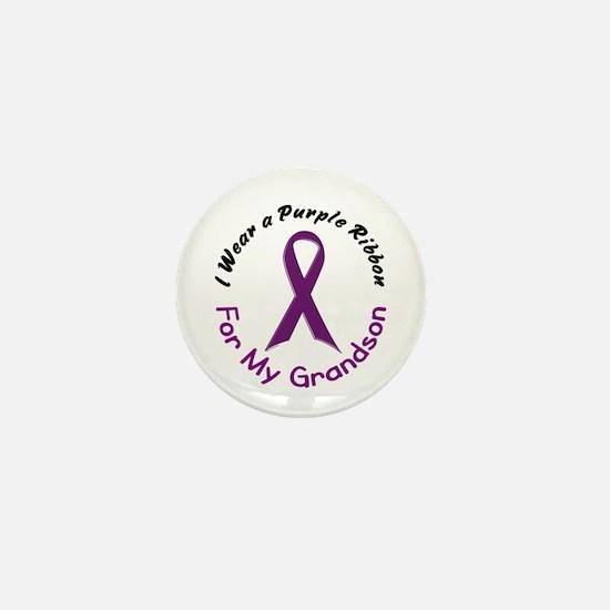 Purple Ribbon For My Grandson 4 Mini Button