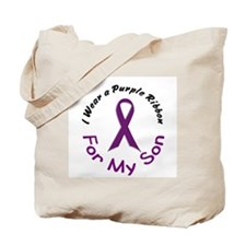 Purple Ribbon For My Son 4 Tote Bag