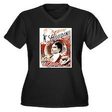 Harry Houdini King of Cards Women's Plus Size V-Ne