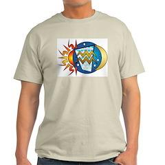 Aquarius Ash Grey T-Shirt
