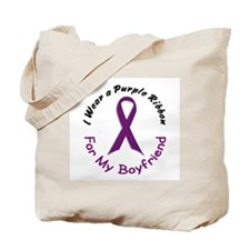 Purple Ribbon For My Boyfriend 4 Tote Bag