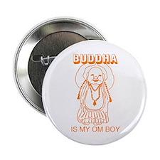 Retro Buddha Is My Om Boy Button