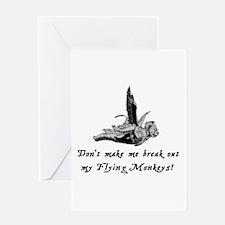 My Flying Monkeys Greeting Card