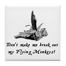My Flying Monkeys Tile Coaster