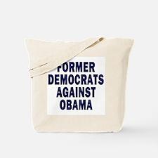 Former Democrats against Obama (canvas tote bag)
