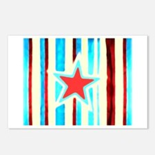 Red White and Blue Star Postcards (Package of 8)