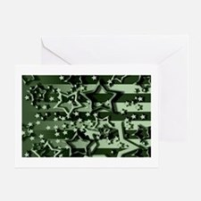 CAMOUFLAGED STARS & STRIPES Greeting Card
