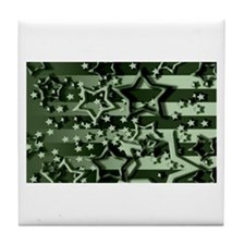 CAMOUFLAGED STARS & STRIPES Tile Coaster