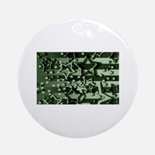 CAMOUFLAGED STARS & STRIPES Ornament (Round)
