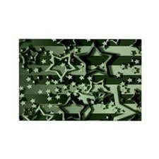 CAMOUFLAGED STARS & STRIPES Rectangle Magnet