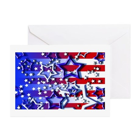 STARS & STRIPES Greeting Cards (Pk of 10)