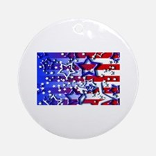 STARS & STRIPES Ornament (Round)