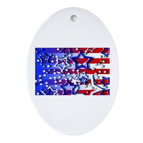 STARS & STRIPES Oval Ornament