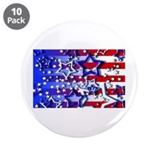 """STARS & STRIPES 3.5"""" Button (10 pack)"""