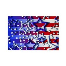 STARS & STRIPES Rectangle Magnet