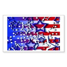STARS & STRIPES Rectangle Decal