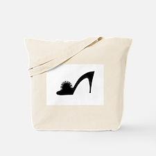 Black Pom Pom Shoe - Tote Bag