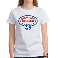 Worlds Sexiest Genealogist Women's T-Shirt
