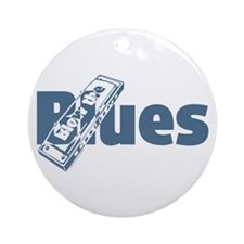 Harmonica Blues Ornament (Round)