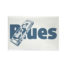 Harmonica Blues Rectangle Magnet