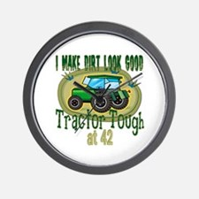 Tractor Tough 42nd Wall Clock