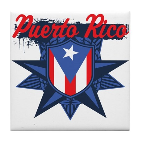 Puerto Rico Star Tile Coaster