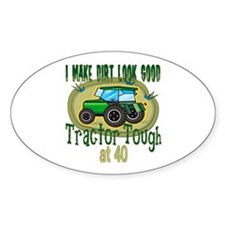Tractor Tough 40th Oval Decal