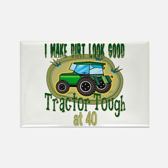 Tractor Tough 40th Rectangle Magnet