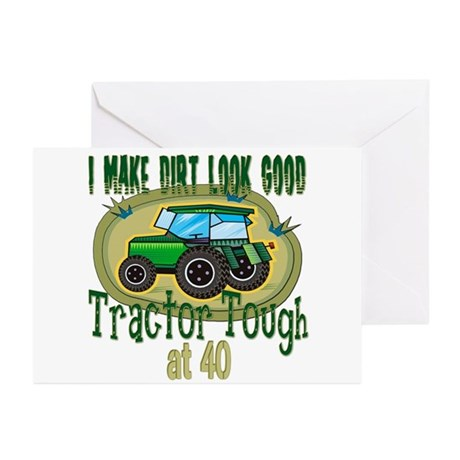 Tractor Tough 40th Greeting Cards (Pk of 10)