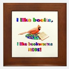 Bookworm Framed Tile
